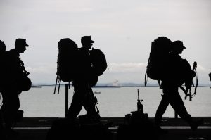 Service Men Walking With Bags